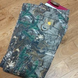Women's Carhartt camo pants
